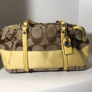 "Coach Yellow Trimmed ""C"" Handbag/Armbag"